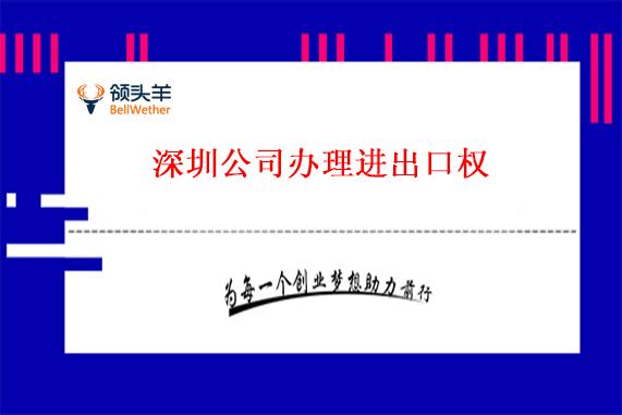深圳公司办理进出口权有什么好处?